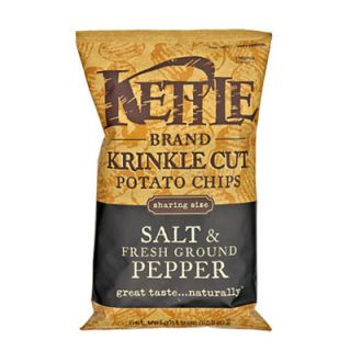"The vegetable oil these chips are fried in is recycled and used to fuel the company's cars. <br /><br /><b>Kettle Brand Salt and Fresh Ground Pepper Chips</b> (<a href=""http://www.kettlebrand.com/"" target=""_blank"">kettlefoods.com</a>)"