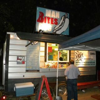 "<b>City:</b> Austin, TX<br /> <b>Cuisine:</b> Hot dogs unleashed<br /> <b>Twitter:</b> <a href=""http://twitter.com/MANBITESDOGTX"" target=""_blank"">@MANBITESDOGTX</a><br /> <b>Sample Tweet:</b> ""The Abe Froman, our Chicago inspired dog. Very tasty. <a href=""http://www.facebook.com/photo.php?pid=13760946&id=309658110553"" target=""_blank"">http://fb.me/EEApNGeE</a>"""