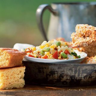 "<p>A classic Southern side dish that features cooked fresh corn and toothsome Lima beans, succotash first appeared in the English language in the mid- to late-1700s. Fans of <i>Looney Tunes</i> might remember Sylvester the Cat lisping, ""thufferin' thuccotash"" every time Tweety Bird escaped his grasp. He unwittingly adopted this adorable exclamation from the Narragansett Indian word <i>msickquatash</i>, ""boiled whole kernels of corn.""</p><br /><p><b>Related Recipe:</b> <a href=""/recipefinder/farm-stand-succotash-3965"" target=""_blank""><b>Farm Stand Succotash</b></a></p>"