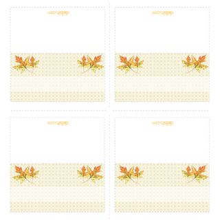"<p>Ideal for any autumn or winter gathering, these place cards add a cozy and elegant touch to your table with warm orange hues. Whether it's a back-to-school celebration or your holiday dinner, they'll be sure to create smiles.</p><br />  <p><a href=""/cm/delish/printables/leaves_placecards.pdf"" target=""_new"">Print this design!</a></p>"