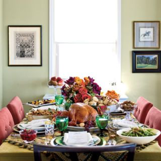 """There's a moment I revel in every Thanksgiving,"" says Nancy Soriano, reflecting on the meal she prepares with her husband, Sidney, each year. ""It's when everyone has finished eating, but we're still gathered at the table and kids are running in and out of the room. That moment is what Thanksgiving means to me. It's about coming together and giving thanks for the simple things."" A decade has passed since the couple first began hosting the holiday, but little has changed."