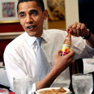 "Democratic presidential hopeful Senator Barack Obama sat down to a bowl of gumbo at the famed Dooky Chase's restaurant in New Orleans, where owner and the chief of Creole cooking, Leah Chase, told the senator, ""You're too frail, baby. I have to fatten you up!"""
