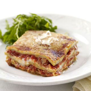 """<p>We offer this rich and cheesy celebration lasagna as an alternative the standard holiday main dish. Creamy béchamel sauce mingles with tangy sausage-studded tomato sauce in every bite.</p><br /><p><b>Recipe: <a href=""""/recipefinder/christmas-lasagna-pasta-recipes"""" target=""""_blank"""">Christmas Lasagna</a></b></p>"""