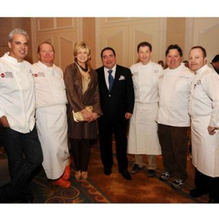 "All hands were on deck to pay tribute to Emeril Lagasse, the man who made ""bam"" a household word. Cooking the dinner were chef friends Eric Ripert, Mario Batali, Bobby Flay, Norman Van Aken, and Gordon Maybury, executive chef of the Loews Hotel on South Beach."