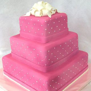 "Wedding cakes are usually white, but quinceañera cakes can be BRIGHT!<br />  <i>By <a href=""http://www.cakesuite.com/home/"" target=""blank"">CakeSuite</a> in Stamford, CT. <br />$650, serves 100</i>"