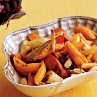"<p>Lightly bitter parsnips contrast beautlfully with sweet carrots in this maple-bourbon-glazed side dish.</p><br /><p><b>Recipe: <a href=""/recipefinder/roasted-maple-bourbon-carrots-parsnips-1080"" target=""_blank"">Roasted Maple-Bourbon Carrots and Parsnips</a></b></p>"