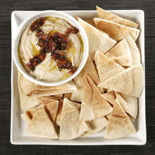 "<p>White beans stand in for chickpeas in this herbed reinterpretation of the classic Middle Eastern dip. In less than 20 minutes, this creamy dip will be ready for the appetizer table.</p><br /><p><b>Recipe: <a href=""/recipefinder/white-bean-hummus-kalamata-relish-recipe"" target=""_blank"">White Bean Hummus</a> </b></p>"