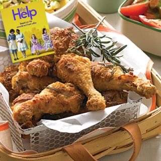 "<p><i>(Best Supporting Actress, 2012)</i></p>   <p><b>Recipes:</b> <a href=""/recipefinder/rosemary-fried-chicken-recipe-mslo0711""><b>Rosemary Fried Chicken</b></a> (pictured)<br /> <a href=""/recipefinder/collard-greens-bacon-mslo0510-recipe"">Collard Greens with Bacon</a><br /> <a href=""/recipefinder/minnys-chocolate-pie-recipe-fw0811""><b>Minny's Chocolate Pie</b></a></p>  <p>Based on Kathryn Stockett's best-selling novel, <i>The Help</i> centers on the lives of white women and their African-American maids in Mississippi during the 1960s. While some of the interactions between the women may make you grimace, most of the food showcased will make you salivate. Imagine crispy fried chicken, savory collard greens, and other fantastic Southern fare. There is one dish that's more of the stomach-turning variety: Minny's (Octavia Spencer) chocolate pie. Luckily our recipe leaves out her <i>special</i> ingredient.</p>"