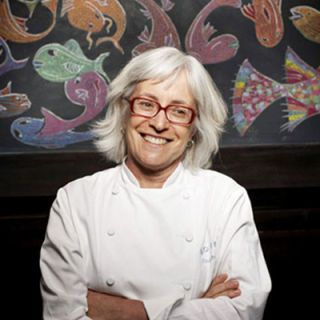 "<p>A pioneer in California's farm-to-table movement, Pawlcyn is the owner and executive chef of three Napa Valley restaurants, including <a href=""http://www.mustardsgrill.com/""target=""_blank"">Mustards Grill</a>. ""I used a chile marinade on my turkey, then roasted it in banana leaves,"" she says. ""It's unexpected but not so different that it disappoints people who want traditional.""</p>"
