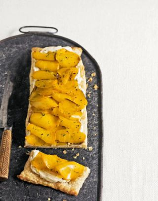 "<p>This delicious tart can be served as both a side dish and savory dessert.</p> <p><strong>Recipe: <a href=""http://www.delish.com/recipefinder/golden-beet-tart-recipe"" target=""_blank"">Golden Beet Tart</a></strong></p>"
