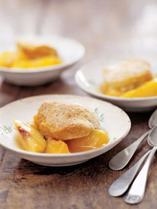 "<p>Topped with biscuits rather than in a traditional crust, this cobbler is perfectly portioned for kids.<br /><br /><strong>Recipe:</strong> <a href=""../../../recipefinder/peach-cobbler-3204"" target=""_blank"">Peach Cobbler</a></p>"
