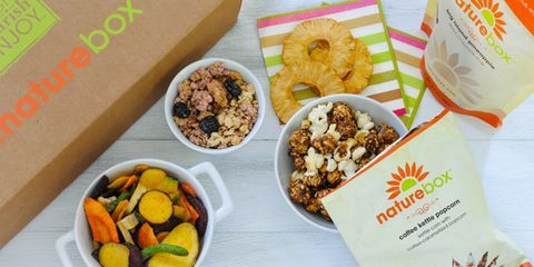 """<p>Snacking can be dangerous business, especially at the office. You need energy to focus, but you're one step away from sitting and snacking all day long. NatureBox fixed that problem for us, and it can for you, too. Their good-for-you goodies are nutritionist-approved. Just make sure to put the bags back after you grab a serving; the artificial sweetener, color, flavor-free snacks are undeniably delicious. One of their newest offerings, Coconut Date Energy Bites are just that— only date and coconut. You can't make snacking much easier, especially when they offer a """"100% snackisfaction guarantee.""""</p> <p><em><strong>NatureBox:</strong> $19.95 per month on a month-to-month basis; <a href=""""https://naturebox.com/"""" target=""""_blank"""">naturebox.com</a></em></p>"""