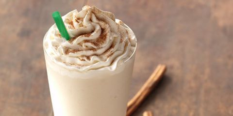 The Cinnamon Horchata Frappuccino was developed by Starbucks baristas in Mexico. Inspired by the traditional Mexican beverage, it's a blend of rice, milk, vanilla, cinnamon and a hint of coconut.