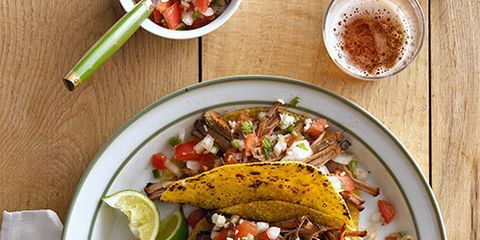 """<p>Every country home needs something simmering in the kitchen, so fire up this versatile big-batch recipe.</p> <p><strong>Recipe:</strong> <a href=""""http://www.countryliving.com/recipefinder/cowboy-brisket-recipe-clx0914"""" target=""""_blank"""">Cowboy Brisket</a></p>"""