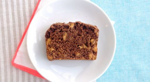 """<div class=""""imageContent""""> <p><strong>Makes:</strong> 1 loaf<br /> <br />• 2 cups chocolate ice cream, very soft<br />• 1 1/2 cups self-rising flour<br />• 1/2 to 1 cup peanut butter baking chips<br /> <br />1. Preheat oven to 350 degrees F. Spray a 9-by-5-inch loaf pan with baking spray.</p> <p>2. In large bowl, stir ice cream until smooth. Stir in flour until just blended; fold in peanut butter chips. Transfer to prepared pan. Bake 42 to 48 minutes or until toothpick inserted in center comes out clean.</p> <p>3. Cool on wire rack for 10 minutes, then invert loaf onto cooling rack. Serve warm or cool completely (with peanut butter, if desired).</p> </div>"""