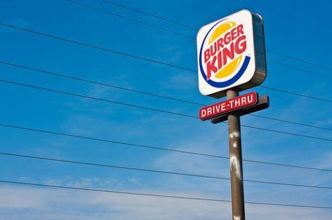 burger king drive thru sign