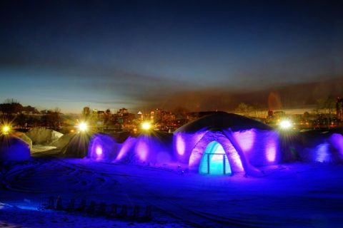 "Located in Centropolis Laval, a short drive west of Montreal, Quebec, this is the second ice restaurant from the <a href=""http://www.tourisme-montreal.org/Discover-montreal/Seasons/Winter/snowvillage"" target=""_blank"">Snow Village Canada</a> team that brought you Pommery Ice Restaurant. Helmed by chef Eric Gonzalez (of the <a href=""http://aubergesaint-gabriel.com/"" target=""_blank"">Auberge Saint-Gabriel</a>), the kitchen puts out plates like salmon gravlax with pomegranate and clementine, duck leg confit cassoulet style, and black chocolate cake with ginger-marinated pears and salted butter caramel, the latter of which pairs well with the restaurant's <a href=""http://amarula.com/"" target=""_blank"">namesake cream liqueur</a>."