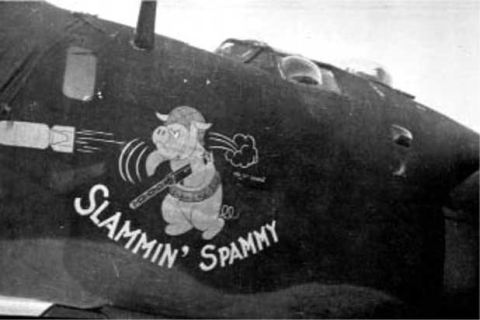 <p>Ever hear of Slammin' Spammy? He was a machine gun-toting, bomb-hurling, angry-faced pig introduced by Hormel to help support the war effort, and showed up on everything from clothing to bombers. </p>