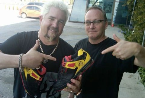 9dc1fc99510 Cuisine Meets Couture  Guy Fieri s New Shoe Line and Other Foodie Fashion