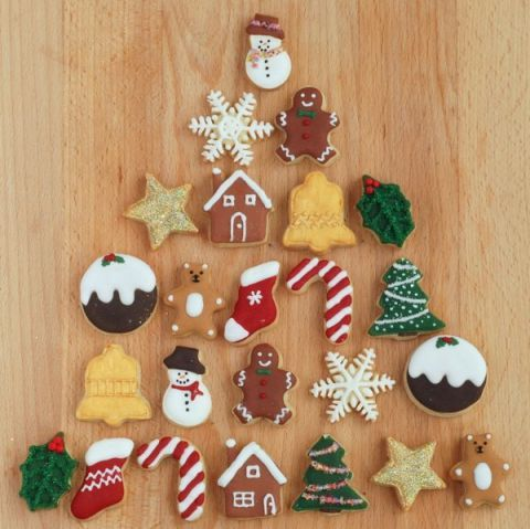 <p>These adorable mini Christmas cookies are just small enough to fit into any advent calendar.</p>