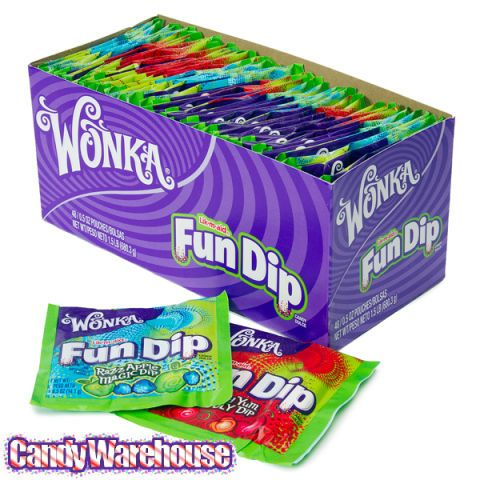 <p>Don't act like you're too old for this hands-on sweet. Fun Dip ranks right up there with Pixie Sticks on the list of ways to most quickly ingest the most sugar, but we love the mix-and-match quality of this candy.</p>