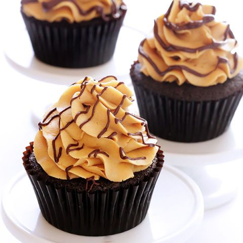 "<p>The only thing that goes better with peanut butter than jelly is chocolate. PB&C join together to create a delicious, decadent chocolate cupcake topped off with peanut butter-y goodness and a chew-y, chocolate-y center with (you guessed it!) more peanut butter. Get ready to go nuts with this yummy treat!</p> <p><strong>Recipe:</strong> <a href=""http://www.gimmesomeoven.com/chocolate-peanut-butter-cupcakes/#_a5y_p=1251808""><strong>Chocolate Peanut Butter Cupcake</strong></a></p>"