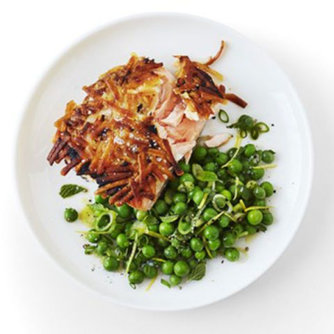 """<p>A crispy potato crust gives this quick fish dish loads of texture, while Dijon mustard gives it a flavorful kick.</p> <p><strong>Recipe: <a href=""""http://www.delish.com/recipefinder/dijon-potato-crusted-salmon-recipe-wdy0914"""" target=""""_blank"""">Dijon Potato–Crusted Salmon</a></strong></p>"""