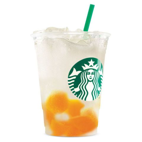 Made with yogurt, this drink features citrus flavor combined with creamy mango jelly.