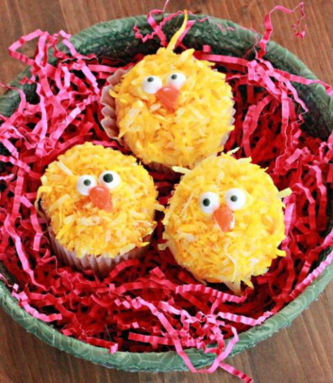 "<p>Kids are sure to love these Easter chick cupcakes, which are decorated with coconut flakes dyed in yellow food coloring and <a href=""http://www.amazon.com/Wilton-710-0017-Candy-Eyeballs/dp/B005BPU1P8/?tag=mommysavers0c-20"" target=""_blank""><strong>Wilton Candy Eyeballs</strong></a>.</p> <p><a href=""http://www.pinterest.com/pin/518125132100405899/"" target=""_blank""><strong>Pin it to your boards!»</strong></a></p> <p><strong>Get the recipe at <a href=""http://www.mommysavers.com/easter-recipes-easter-chick-cupcakes/"" target=""_blank"">MommySavers.com</a></strong></p>"