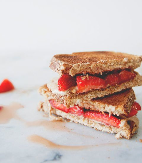 "<p>Trade in your usual peanut butter for a sea salt variation; it will give this classic sandwich a tasty kick that even your kids will love. </p> <p><strong>Recipe:</strong> <a href=""http://www.thekitchykitchen.com/?recipes=/mom-monday-sea-salt-honey-almond-butter-macerated-berries/"" target=""_blank"">Sea Salt Honey Almond Butter & Macerated Berries</a></p>"