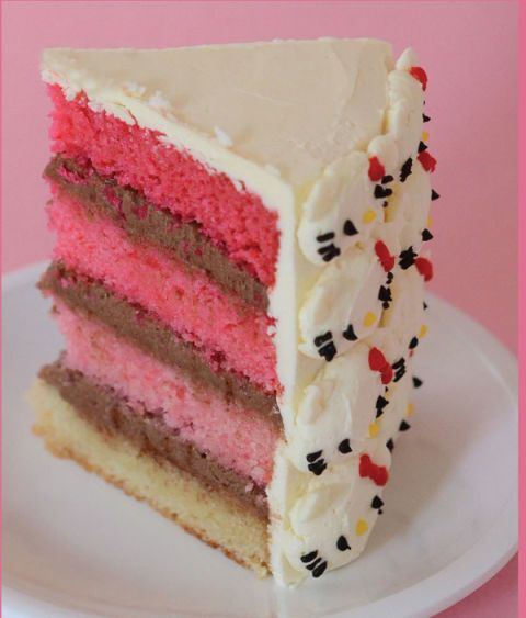 Hello Kitty Pink Ombre Cake