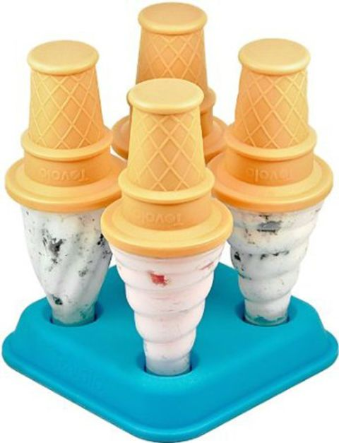 "<p>Fill this charming tromp l'eoil ice cream cone mold ($11) with creamy flavors such as mint chocolate chip or tropical mango dreamsicle. <a href=""http://www.amazon.com/gp/product/B00395BD86/ref=as_li_ss_tl?ie=UTF8&camp=1789&creative=390957&creativeASIN=B00395BD86&linkCode=as2&tag=wwwshopstylec-20&ascsubtag=970029959&tag=wwwshopstylec-20"" target=""_blank""><i>amazon.com</i></a></p>"