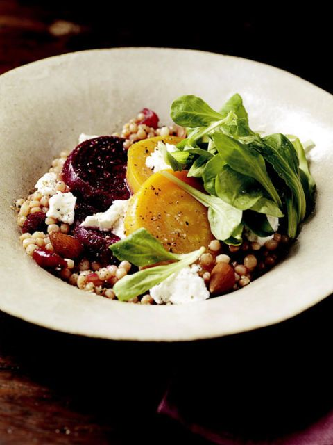 "<p>A mix of golden and ruby red beets give this couscous salad a hefty dose of flavor, as well as fiber, vitamin C, iron, magnesium, and potassium.</p> <p><strong>Recipe: <a href=""http://www.delish.com/recipefinder/couscous-beet-salad-recipes"" target=""_blank"">Israeli Couscous and Beet Salad</a></strong></p>"