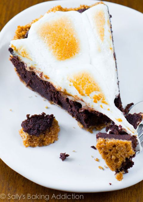 "<p></p> <p><strong>Get the recipe from <a href=""http://sallysbakingaddiction.com/2013/05/06/smores-brownie-pie/"" target=""_blank"">Sally's Baking Addiction</a>.</strong></p>"