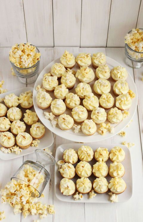"<p></p> <p><strong>Get the recipe from <a href=""http://www.abeautifulmess.com/2014/02/buttered-popcorn-cupcakes.html"" target=""_blank"">A Beautiful Mess</a>.</strong></p>"