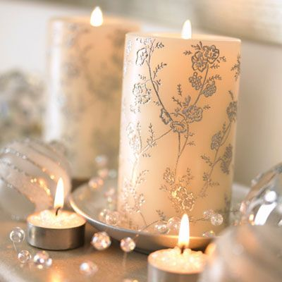 christmas candles decorating with christmas candles and holders - Christmas Candle Holders Decorations