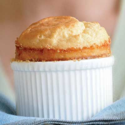 """<p>A classic, pillowy cheese soufflé turns supper into an act of kindness worth bestowing on yourself.</p><p><b>Recipe:</b> <a href=""""/recipefinder/cheese-souffle-recipe""""><b>Cheese Soufflé</b></a></p>"""