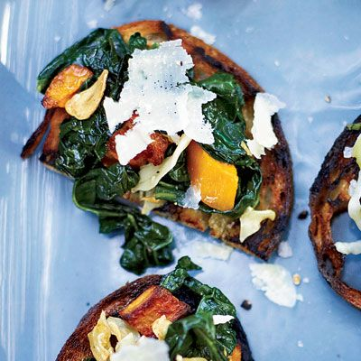 """<p>Kale, when combined with sweet roasted squash, can become tender and tasty.</p><p><b>Recipe: </b><a href=""""http://www.delish.com/recipefinder/squash-kale-toasts-recipe-fw0311"""" target=""""_blank""""><b>Squash-and-Kale Toasts</b></a></p>"""