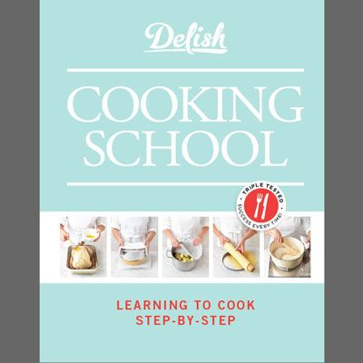 "<p>With triple-tested recipes, easy-to-follow instructions on how to handle ingredients, clearly explained cooking methods, and step-by-step images to guide you through the cooking process, <i>Delish Cooking School</i> helps home cooks at every level prepare delicious dishes with ease.</p><br />  <p>Scroll through the slideshow to get an exclusive sneak peek at some of the great content in the book.</p><br />  <a href=""http://www.amazon.com/gp/product/1588169308/ref=as_li_ss_tl?ie=UTF8&tag=delish.com-20&linkCode=as2&camp=1789&creative=390957&creativeASIN=1588169308"" target=""_blank""><b>Buy the Book Now!</b></a>"
