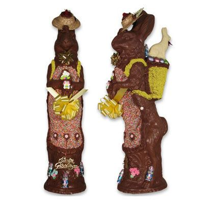 "<p>When a regular chocolate bunny just won't do, you have to go bigger — in height. This hand-painted, milk chocolate treat from Conrad's Candy is more than two feet tall and weights about seven pounds. It may take you until Halloween to finish it off! And it will set you back $179.99.</p>  <p>If a tall chocolate bunny isn't your style, make your own sweet treat. Try one of our <a href=""/recipes/cooking-recipes/chocolate""><b>amazing recipes for chocolate lovers</b></a>.</p>"