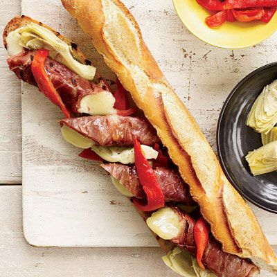"<p>These gooey sandwiches get double-grilled: the prosciutto-wrapped provolone is grilled first before being sandwiched on grilled baguette.</p><p> <strong>Recipe:</strong> <a href=""../../../recipefinder/double-grilled-antipasto-sandwiches-recipe-fw0612"" target=""_blank""><strong>Double-Grilled Antipasto Sandwiches</strong></a></p>"