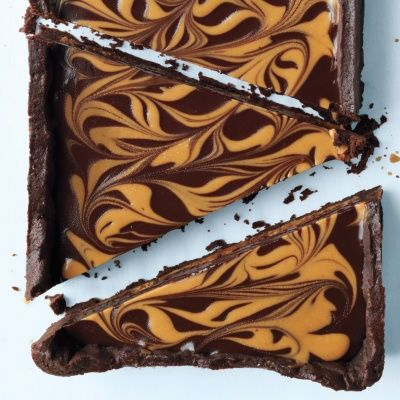"<p>This tart recipe is sure to please with its winning combination of luscious chocolate ganache and smooth peanut butter. Impress with both taste and appearance: the easy marble pattern is made with a simple wooden skewer.</p> <p><strong>Recipe:</strong> <a href=""http://www.delish.com/recipefinder/chocolate-peanut-butter-tart-recipe-mslo1012"" target=""_blank""><strong>Chocolate-Peanut Butter Tart</strong></a></p>"