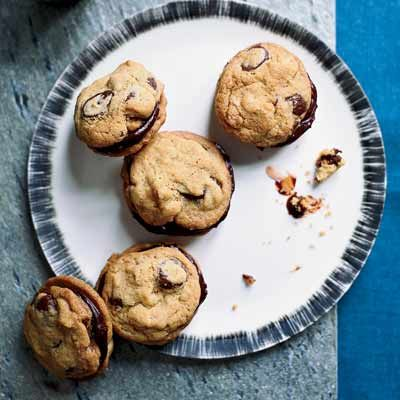 "<p>Jessica Sullivan, the pastry chef at <a href=""http://www.boulevardrestaurant.com"" target=""_blank""> Boulevard Restaurant</a> in San Francisco, developed these overstuffed chocolate-ganache sandwich cookies using nutty chocolate-chip cookies.</p> <p><b>Recipe: <a href=""http://www.delish.com/recipefinder/ganache-stuffed-chocolate-chip-cookies-recipe"" target=""_blank"">Ganache-Stuffed Chocolate-Chip Cookies</a> </b></p>"