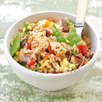 "<p>Using leftovers, you can throw together this pork fried rice with red-currant glaze in no time for an easy weeknight dinner.</p><br /><p><b>Recipe:</b> <a href=""/recipefinder/sweet-salty-pork-fried-rice-recipe""><b>Sweet-and-Salty Pork Fried Rice</b></a></p>"