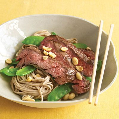 "<p>Budget-savvy skirt steak is the star of this fast meal.</p><p><b>Recipe:</b> <a href=""/recipefinder/asian-noodle-bowls-steak-snow-peas-recipe-mslo0311""><b>Asian Noodle Bowls with Steak and Snow Peas</b></a></p>"