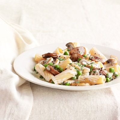 """<p>When it comes to pasta with cream sauce, you can't beat the trifecta of mushrooms, sausage, and peas. Even better? Lightening things up with a little white wine and thyme.</p> <p><strong>Recipe:</strong> <a href=""""/recipefinder/rigatoni-sausage-peas-mushrooms-recipe-clv0512"""" target=""""_blank""""><strong><b>Rigatoni with Sausage, Peas, and Mushrooms</b></strong></a></p> <p>Sausage: $4.99<br />Rigatoni: $1.47<br />Mushrooms: $2.09<br />White wine: $6.99<br />Garlic: $0.70<br />Thyme: $1.29<br />Peas: $1.79<br />Heavy cream: $1.44</p> <p><strong>TOTAL:* $20.76</strong> (for six servings)   <strong>$3.46 per serving</strong></p> <p><strong>*BY THE NUMBERS</strong><em> All ingredient prices are based on averages from three national supermarket chains and correspond to the cost of packaged goods required to make each dish. (Even though a recipe calls for a cup of white wine, for instance, we listed the price for a 750-milliliter bottle.) True pantry staples — sugar, spices, butter, oils, and vinegar — and taxes are not included.</em></p>"""