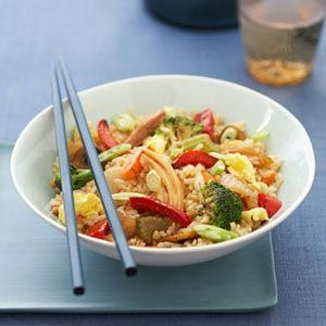 <p>For a quick and easy dish, try this 15-minute recipe complete with broccoli, eggs and garlic, stir-fried in a soy and rice wine sauce.</p>