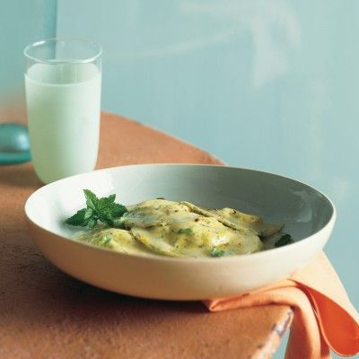 """<p>This pasta is well worth making from scratch, its tiny flecks of green delivering bursts of flavor that contrast sharply with its creamy goat cheese filling and tart lemon-zest garnish.</p><p><b>Recipe:</b> <a href=""""/recipefinder/mint-ravioli-stuffed-goat-cheese-recipe-mslo0312""""><b>Mint Ravioli Stuffed with Goat Cheese</b></a></p>"""
