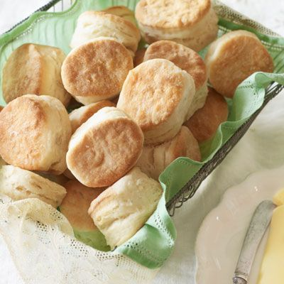 "<p>Buttermilk biscuits are a Southern tradition. Best served warm and fresh from the oven, these tender biscuits are as delicious for breakfast as they are with supper.</p><p><b>Recipe:</b> <a href=""/recipefinder/buttermilk-angel-biscuits-recipe-clx0411""><b>Buttermilk Angel Biscuits</b></a></p>"