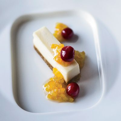 Goat cheese is substituted for cream cheese in this clever twist on a traditional cheesecake recipe.
